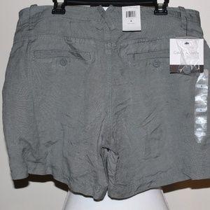 NWT Womens Calvin Klein Linen Blend Classic Shorts